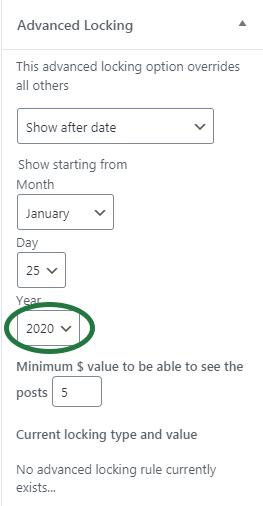 Date based lock into future