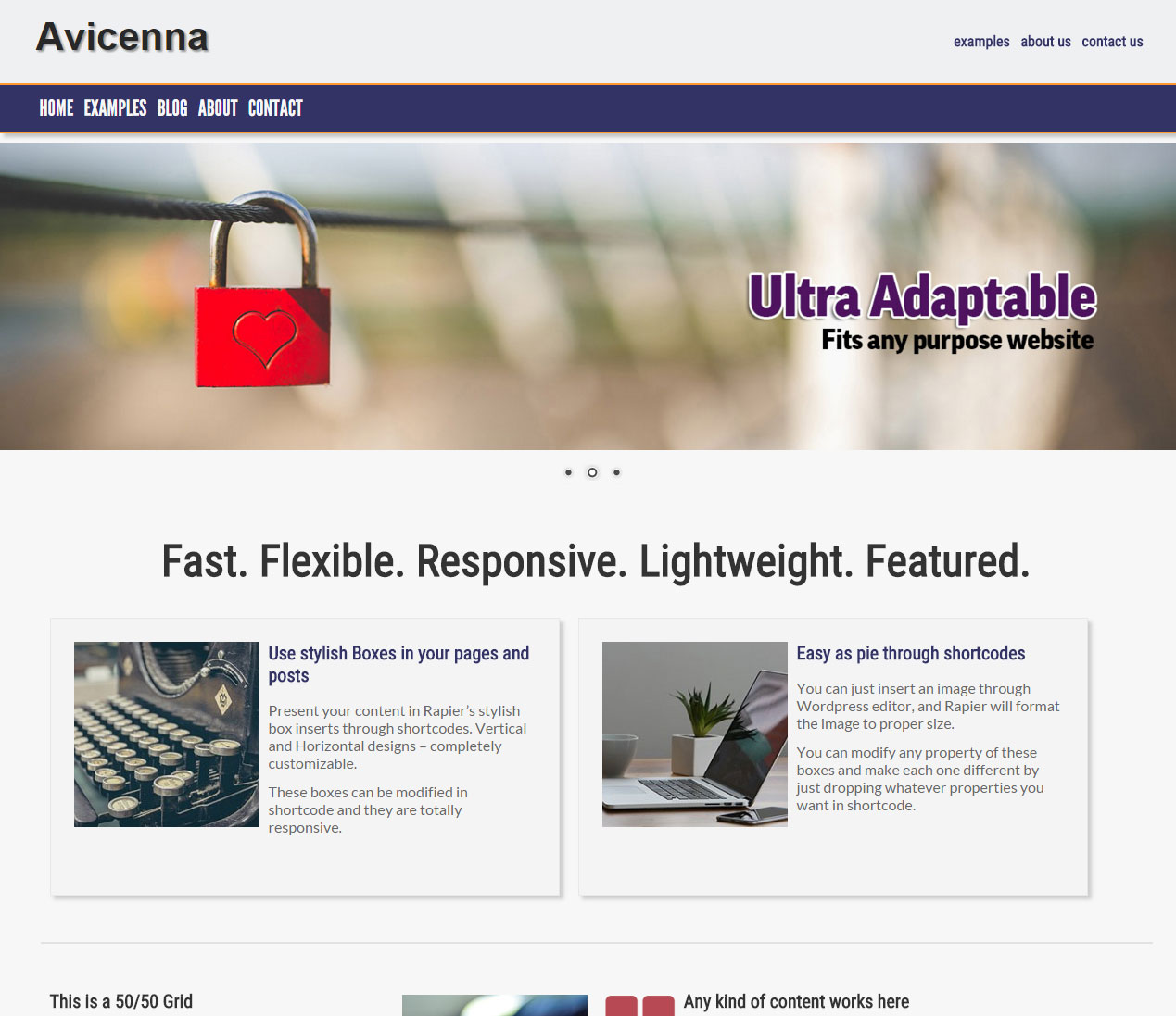 """Avecinna"" Style of Rapier, Main Page with Slider"